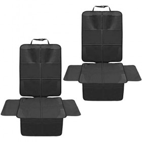 2 Pack Car Seat Protector for Car Seat Waterproof Seat Protector with Mesh Pockets and Thickest Padding for Your Fabric and Leather Seats