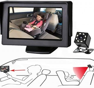 Itomoro Baby Car Mirror  View Infant in Rear Facing Seat with Wide Crystal Clear View Camera aimed at baby-Easily to Observe The Babys Every Move