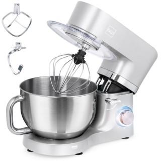 Best Choice Products 6.3qt 660W 6-Speed Tilt-Head Stainless Steel Kitchen Mixer w/ 3 Attachments Splash Guard - Silver