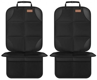 Car Seat Protector  Smart eLf 2Pack Seat Protector Protect Child Seats with Thickest Padding and Non-Slip Backing Mesh Pockets for Baby and Pet