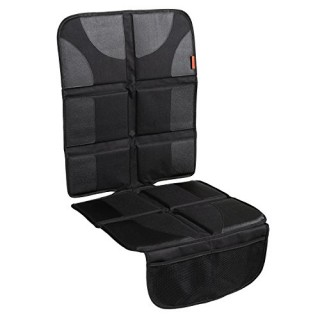 Lusso Gear Car Seat Protector with Thickest Padding - Featuring XL Size (Best Coverage Available)  Durable  Waterproof 600D Fabric  PVC Leather Reinforced Corners  & 2 Large Pockets for Handy Storage