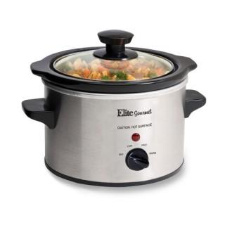 Elite Gourmet MST-250XS 1.5-Qt. Mini Slow Cooker Stainless Steel