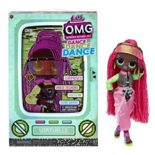 LOL Surprise OMG Dance Dance Dance Virtuelle Fashion Doll with 15 Surprises Including Magic Blacklight Shoes Hair Brush Doll Stand and TV Package - For Girls Ages 4+